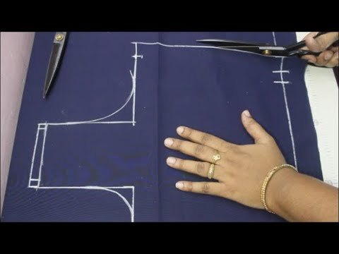 Cross Cut Blouse Cutting Simple And Easy Method  (DIY)