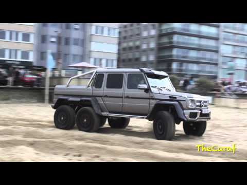 mercedes g63 amg 6x6 burn on the beach youtube. Black Bedroom Furniture Sets. Home Design Ideas