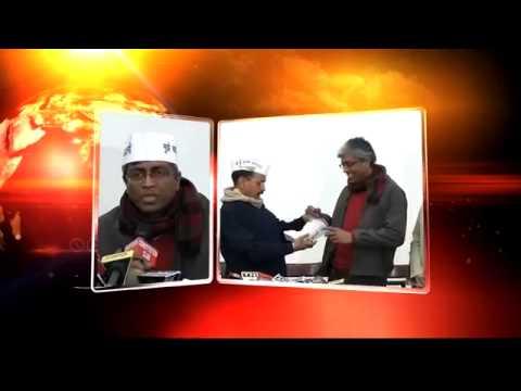 Ashutosh joins AAP wears Symbolic Cap