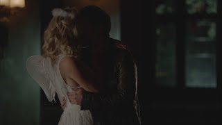 The Vampire Diaries: 7x04 - Stefan kisses Caroline, make out and have sex [HD]