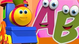 Bob música abc trem   cartoon para crianças   desenho infantil   Vídeo para crianças   Saiba A a Z
