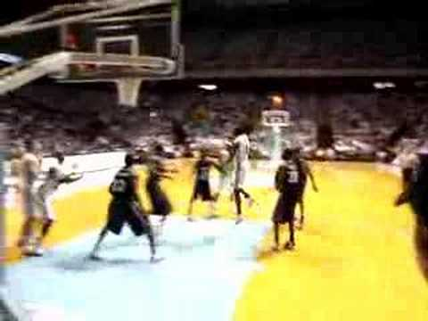 Tyler Hansbrough dunk at first game Video