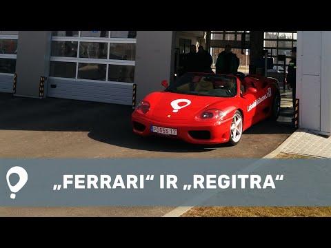 """""""Ferrari"""" nuotykiai techninės apžiūros centre ir """"Regitroje"""""""