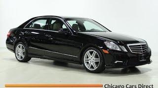 Chicago Cars Direct Presents a 2010 Mercedes-Benz E350 4Matic AWD.  Black/Almond. #141251