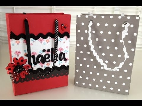 tutoriel scrapbooking cr er un sac cadeau youtube. Black Bedroom Furniture Sets. Home Design Ideas