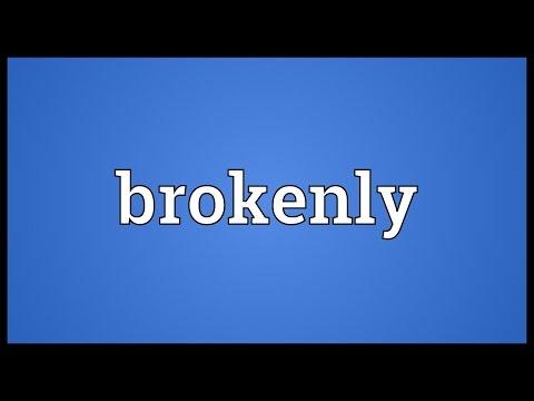 Header of brokenly