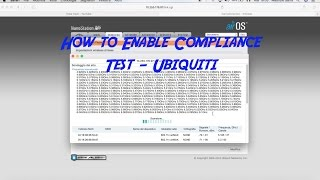 How to Enable Compliance Test - Ubiquiti