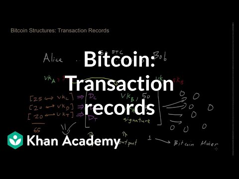 Bitcoin - Transaction records
