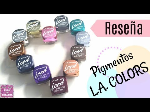 Reseña de los 12 pigmentos de L.A. Colors Iced Pigment Podwer | Clan de Belleza