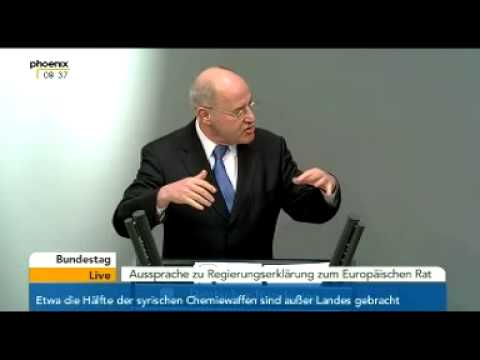 Bundestag (20.03.2014) Gysi redet über die Ukraine / Atomwaffen / Putin / Völkerrecht / Swoboda