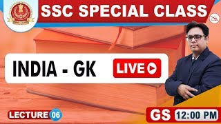 India-GK Live | General Studies | SSC Special Class | 12:00 pm
