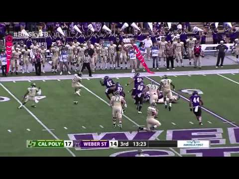 Cal Poly at Weber State - Big Sky Football Highlights