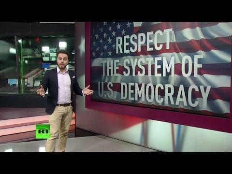 Истинное лицо американской демократии: сторонников Трампа избивают на улицах