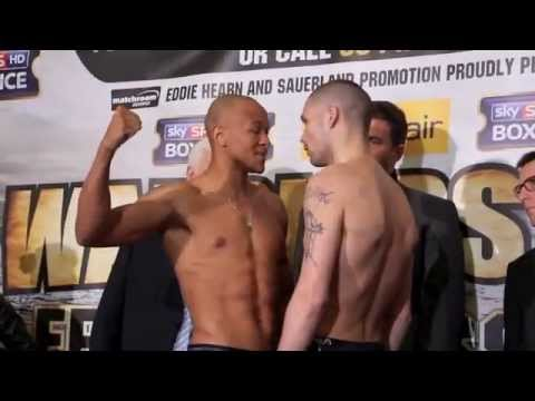 TONY BELLEW v ISAAC CHILMBA 2 - OFFICIAL WEIGH IN AT THE O2 (LONDON) / WARRIORS' CALL