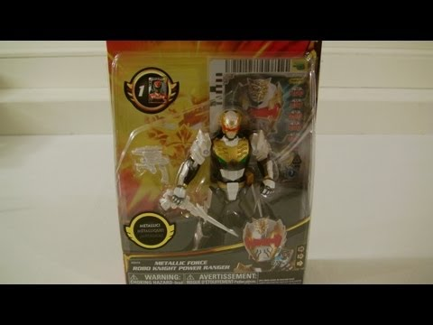 Power Rangers Megaforce METALLIC FORCE ROBO KNIGHT review/comparison