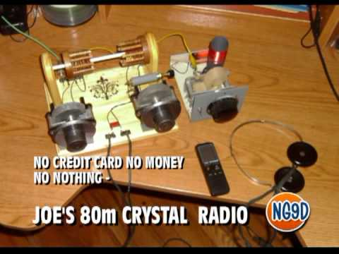 Joe's 80m Crystal Radio - CW Demo