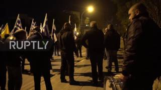 Cyprus: National Popular Front members protest against unification talks