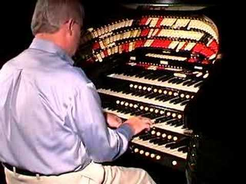 Jim Riggs at the Wurlitzer: