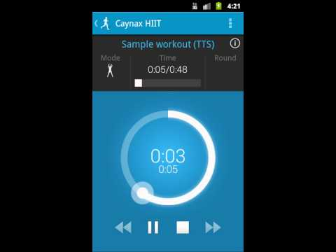HIIT - interval training timer Fitness app screenshot for Android