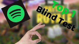 UN BLIND TEST POUR LE TOP 1 !!!