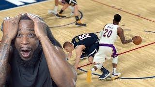 Cross-Over Made Nikola Jokić Fall To The Floor! Lakers vs Nuggets NBA 2K19 MyCareer Ep 82