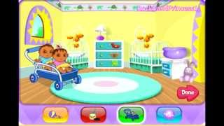 Dora Babysit's The Twins Game - Baby Games