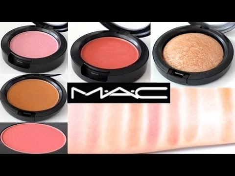 MAC Blush / Highlighter / Bronzer Swatches ♡Review