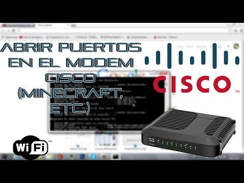 Abrir Puertos En Modem CISCO (Minecraft, Etc.) 2014 [HD]