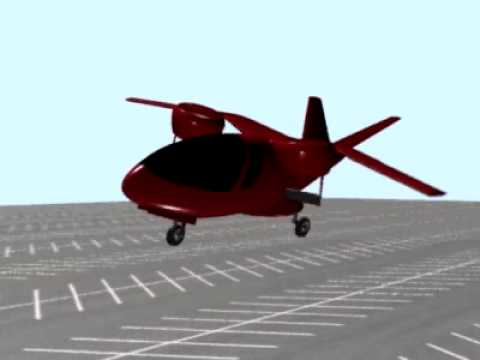 NASA Two Person VTOL Concept Using Circulation Control Nacelle