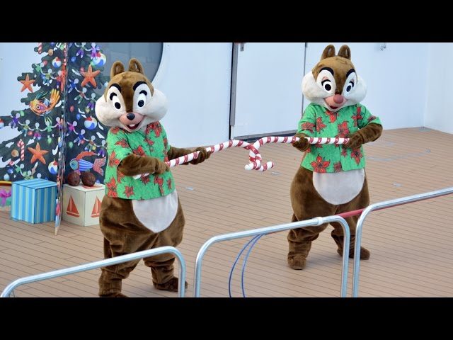 Disney Dream Holiday Deck the Deck Party with Mickey, Stitch, Goofy, Pluto, Minnie, Merrytime Cruise
