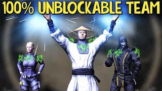 MKX Mobile. INSANE Unblockable Team. Finally Beating Diamond Teams!