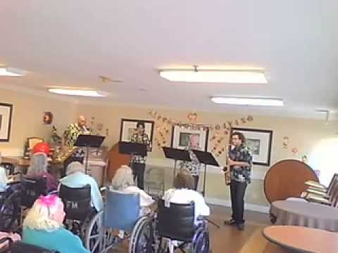by Lennie Niehaus Copyright 1997 by Cojarco Music, Inc. (BMI) Used by permission 4-Way Sax Quartet in San Diego, playing at the Friendship Manor Convalescent...