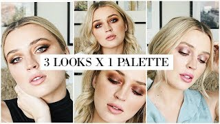 3 LOOKS USING THE ABH SOFT GLAM PALETTE | allanaramaa