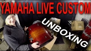 Yamaha Live Custom - Drum Unboxing and setup.