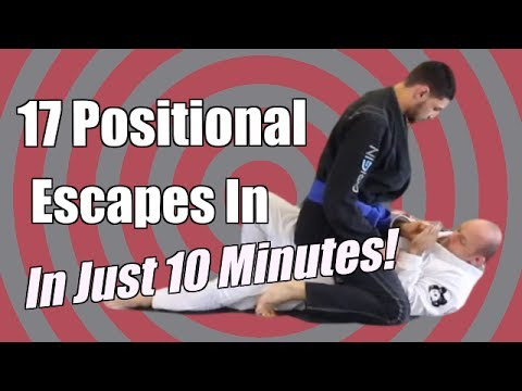 17 BJJ Positional Escapes In 10 Min  - Mount & Back Mount - Jason Scully