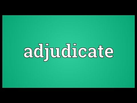Header of adjudicate