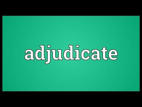 Header of adjudicate