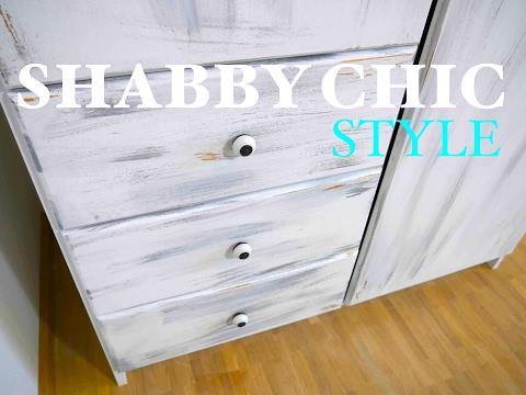 DIY SHABBY CHIC- Möbel im Vintage Look ganz EINFACH selber machen ...