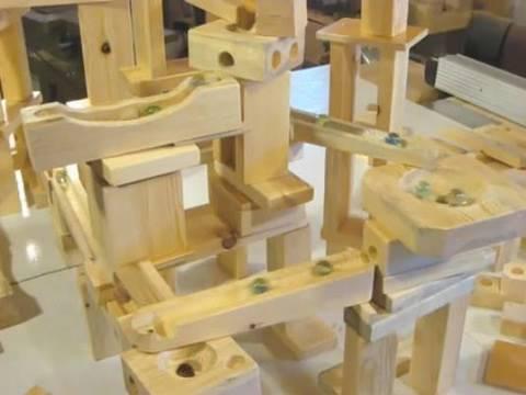 wood marble run plans