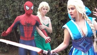 JEDI ELSA vs SITH ELSA - Spider-Man Frozen Star Wars PARODY