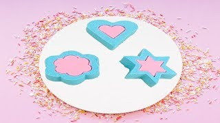 Learn Shapes with Kinetic Sand Star, Heart and Flower For Kids