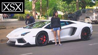 Cute Girls, People's Reactions To Cuong Dollar, Lamborghini Aventador & McLaren 650S Spider | XSX