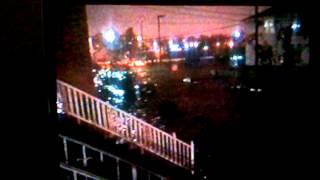 Hurricane Sandy Bayonne NJ October 29, 2012  First Street and Zabriskie Avenue