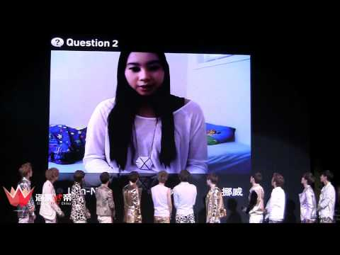 [FANCAM] 120401 - EXO Showcase Q&A 1&2