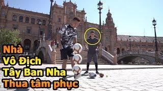 Thử Thách Bóng Đá Đỗ Kim Phúc Việt Nam đánh bại nhà vô địch La Liga với Skills đỉnh như Ronaldinho