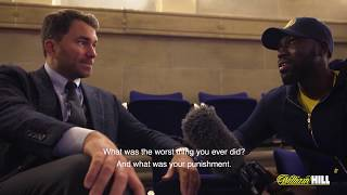Exclusive: Eddie Hearn on ducks, baldness, hiccups, pain and doo doo