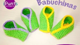 Tutorial Babuchinas: Zapatillas a ganchillo paso a paso