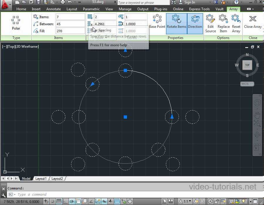 How To Create And Use Polar Arrays Circular Patterns