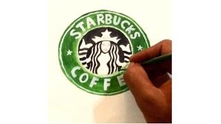 World Famous logos drawn by hand | Using paintbrush | Aditya Patil | 14 hr work.