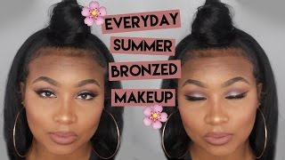 Everyday Summer Bronzed Makeup ft. Karity Affordable Eyeshadows